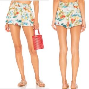Majorelle Livvy Shorts In Blue Hawaii